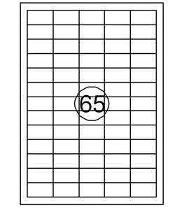 Quantore ETIKET  38X21.2 6500STKS