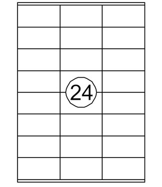 Quantore ETIKET  70X36 2400STKS