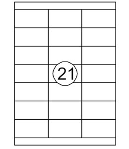 Quantore ETIKET  70X38.1 2100STKS