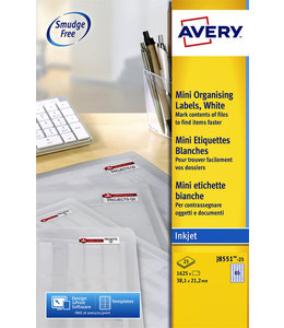 Avery ETIKET J8551-25 38.1X21.2