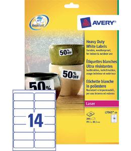 Avery ETIKET L7063 99.1X38.1 WT