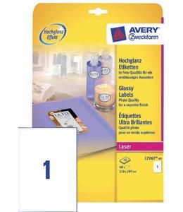 Avery ETIKET L7767-40 210X297 WT