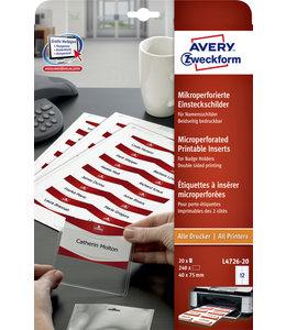 Avery BADGE INSTEEKKRT L4726-20