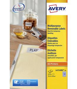 Avery ETIKET L4743REV 99.1X42.3