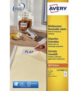 Avery ETIKET L4737REV 63.5X29.6