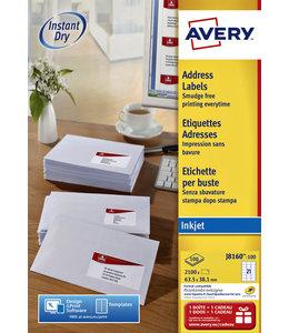 Avery ETIKET J8160-100 63.5X38.1