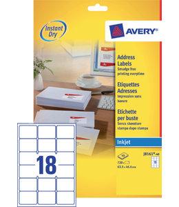Avery ETIKET J8161-40 63.5X46.6