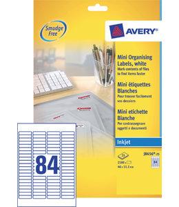 Avery ETIKET J8656-25 46X11.1