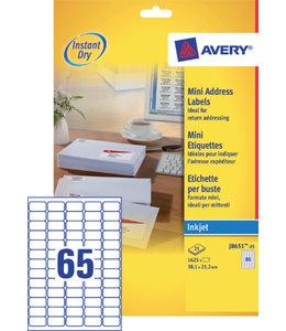 Avery ETIKET J8651-25 38.1X21.2
