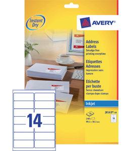 Avery ETIKET J8163-10 99.1x38.1