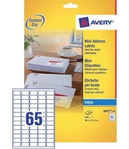 Avery ETIKET J8651-10 38.1x21.2