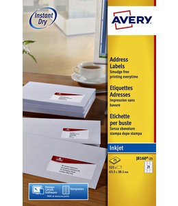Avery ETIKET J8160-10 63.5X38.1
