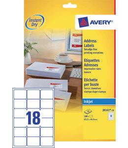 Avery ETIKET J8161-10 63.5X46.6