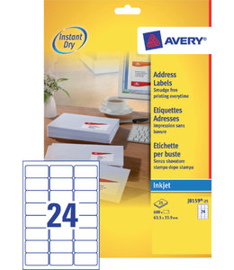 Avery ETIKET J8159-25 63.5X33.9