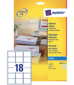Avery ETIKET J8161-25 63.5X46.6
