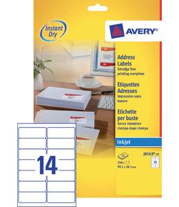 Avery ETIKET J8163-25 99.1X38.1