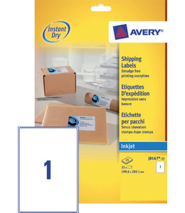 Avery ETIKET J8167-25 199.6X289.1