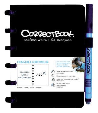 Correctbook A6 BLK ZW