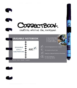 Correctbook A5 BLK WT