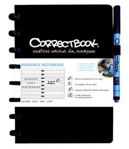 Correctbook A5 LIJN ZW