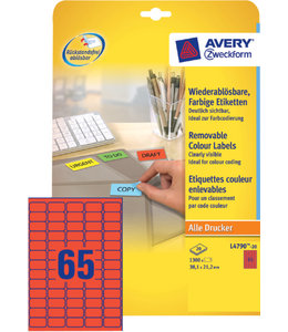 Avery Zweckform ETIKET L4790 38.1X21.2 RD
