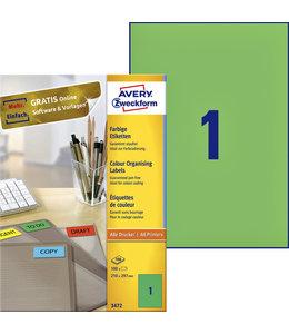 Avery Zweckform ETIKET 3472 210X297 GN