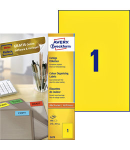 Avery Zweckform ETIKET 3473 210X297 GL