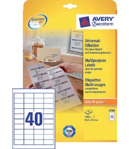 Avery Zweckform ETIKET 4780 48.5X25.4