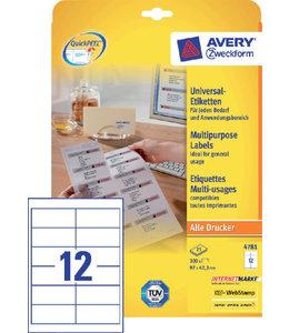 Avery Zweckform ETIKET 4781 97X42.3
