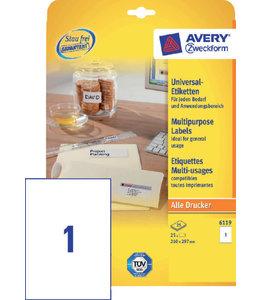 Avery Zweckform ETIKET 6119 210X297