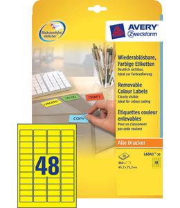 Avery Zweckform ETIKET L6041-20 45.7X21.2