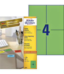 Avery Zweckform ETIKET 3458 105X148 GN