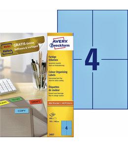 Avery Zweckform ETIKET 3457 105X148 BL