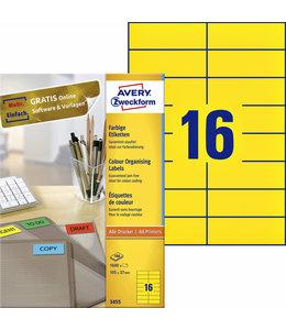 Avery Zweckform ETIKET 3455 105X37 GL