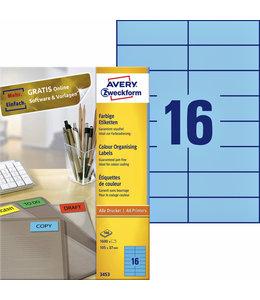 Avery Zweckform ETIKET 3453 105X37 BL