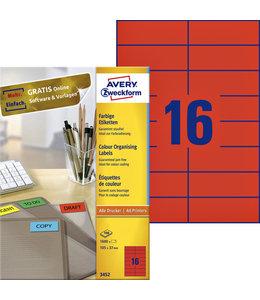 Avery Zweckform ETIKET 3452 105X37 RD