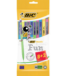 Bic VULPOTL MATIC FUN 0.7MM 8STKS + 2