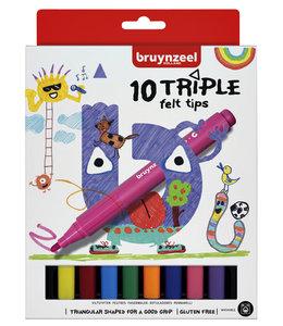 Bruynzeel VILTSTIFT TRIPLE ASS 6x10STKS