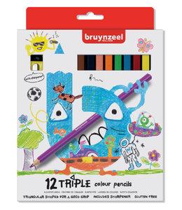Bruynzeel KLEURPOTLOOD KIDS TRIPLE 6x12STKS