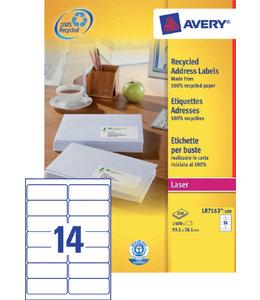 Avery ETIKET LR7163 99.1X38.1 1400STKS