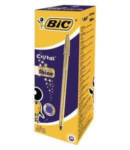 Bic BALPEN CRISTAL GOLD BL 20STKS