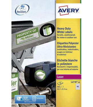 Avery ETIKET L4778-20 45.7X21.2 960STKS