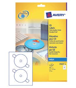 Avery ETIKET CD C9660-25 GL 50STKS