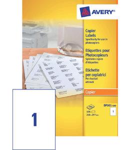 Avery ETIKET DP001-100 210X297 100STKS