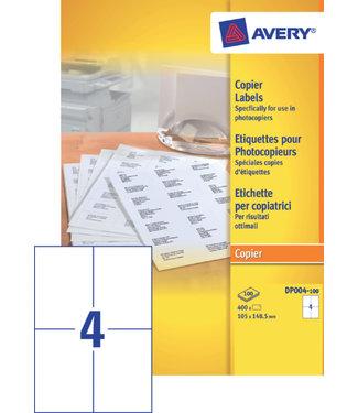 Avery ETIKET DP004-100 105X149 400STKS