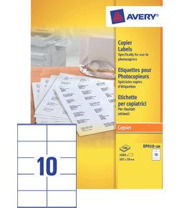 Avery ETIKET DP010-100 105X58 1000STKS