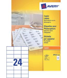 Avery ETIKET DP247-100 70X37 2400STKS