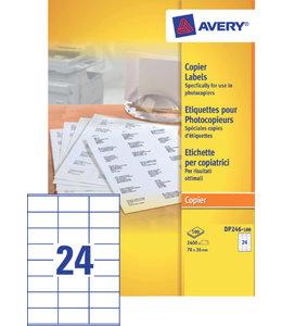 Avery ETIKET DP246-100 70x36 2400STKS
