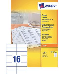 Avery ETIKET DP167-100 105X37 1600STKS
