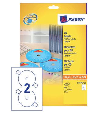 Avery ETIKET CD L7676-25 OPAAK 50STKS